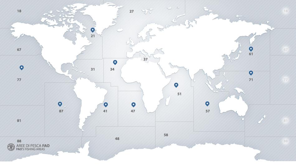 ZONE FAO MAPPA